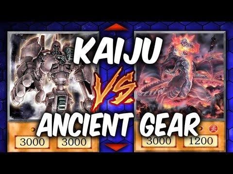 GIANT MONSTER BATTLE!  KAIJU vs ANCIENT GEAR (YU-GI-OH! Themed Decks)