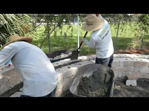 Paver Curved Seat Project