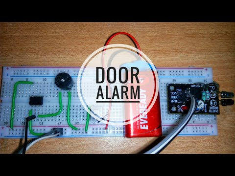 How to make a simple smart door alarm easy using IR proximity sensor and breadboard-At home