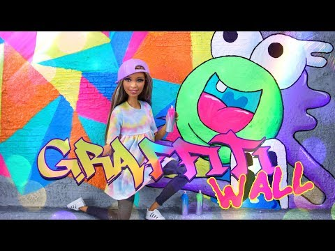 DIY - How to Make: Doll Graffiti Wall | PLUS Spray Cans | Art Inspired by Greg Mike