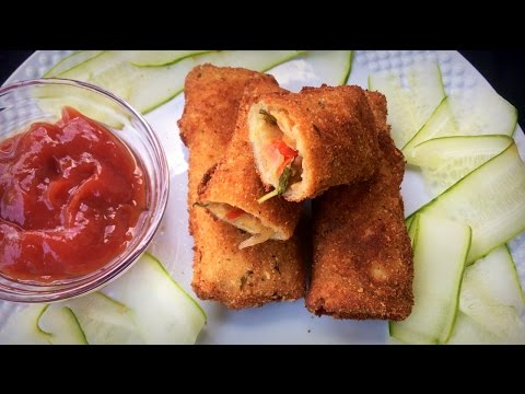 ভেজিটেবল ব্রেড রোল || How To Make Vegetable Bread Roll || Vegetable Bread Roll Bangla || Bread Rolls