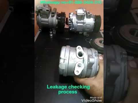 Leakage checking process car air conditioning ac Compressor second hand car ac compressor