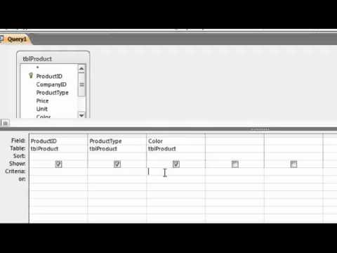 Access List of Values Query