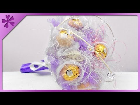 DIY Ferrero Rocher bouquet (ENG Subtitles) - Speed up #65