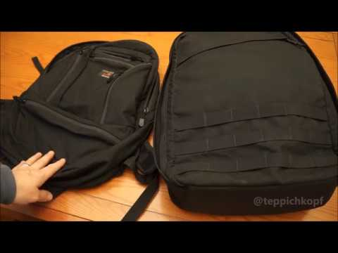 GORUCK GR1 26 compared with Tom Bihn Synapse 25 - one weeking packing