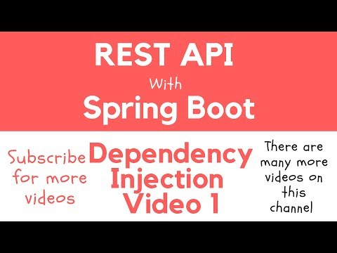 REST API with Spring Boot - Dependency Injection. A practical example.