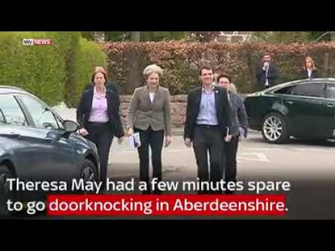 UK Prime Minister Teresa May Knock of Shame at Aberdeenshire