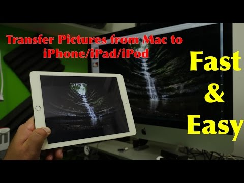 Transfer photos from Mac to iPhone EASY
