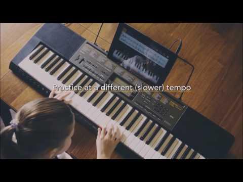 Learn with Casio Chordana Play app on Casio CTK-2500
