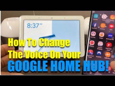 How To Change The Voice On Your Google Home Hub.