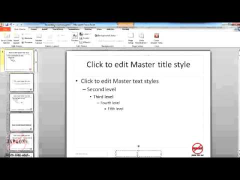 PowerPoint Slide Master - Adding Logos or Text to All Slides