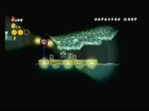 New Super Mario Bros Wii Walkthrough World 6 - 6:  How to Get the Warp Cannon Goal?