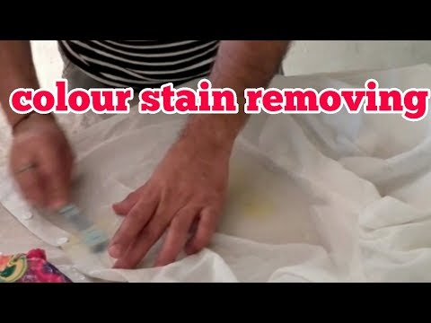 How to remove  colour  stain without  Bleach  ( hindi)