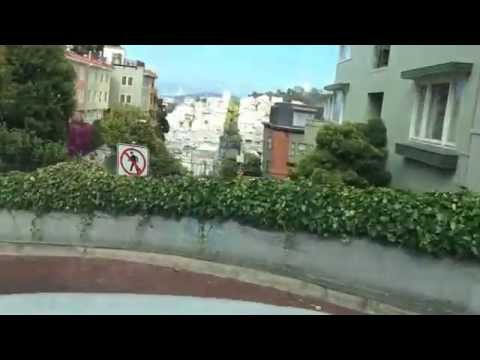 San Francisco | Driving down Lombard Street | World most crooked Street