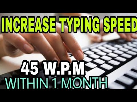 How to Increase Typing Speed On Keyboard Improve Typing Skills At Home