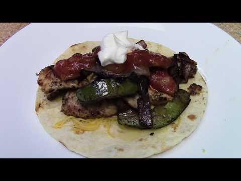 Grilled Chicken Fajitas on (GrillGrates)