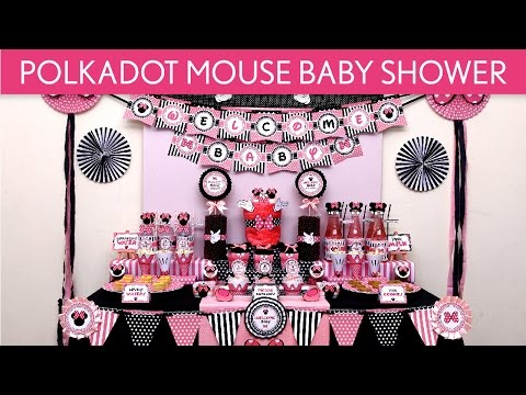 Polkadot Mouse Baby Shower Party Ideas // Polkadot Mouse - S48