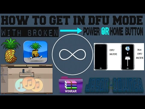 How To Enter DFU Mode With Broken Power/Home Button