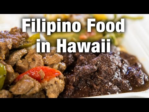 Filipino Food at Naty's Kitchen in Honolulu, Hawaii