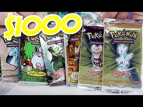 Opening $1000+ OF OLD POKEMON BOOSTERS!!