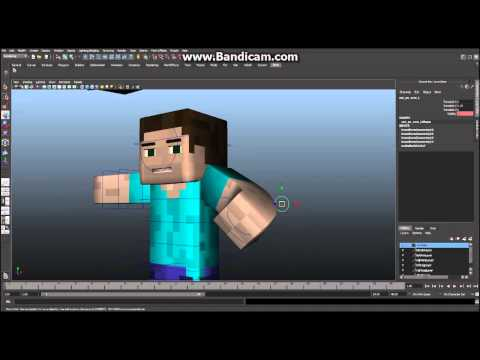 Minecraft - Maya - Tutorial - How to Build Your Character, Ep 1 - Modeling