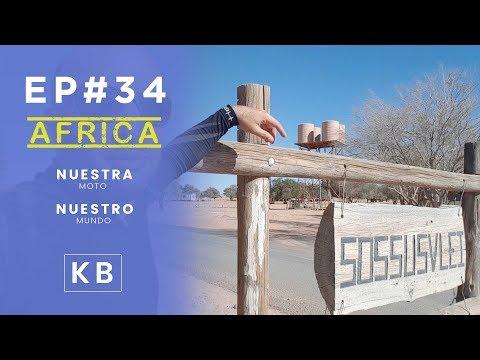 Hacia el desierto del Kalahadi por la frontera de Mata Mata - Ep#34 - Vuelta al Mundo en Moto