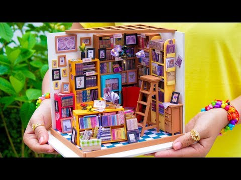 DIY Miniature Library Doll House