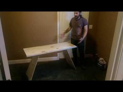 Building a Simple Modern Plywood Desk