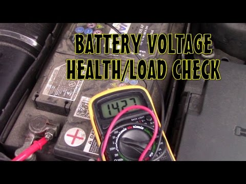 Car 12V Battery Voltage Health or Load Check using Multimeter  - Audi A3 and All Cars