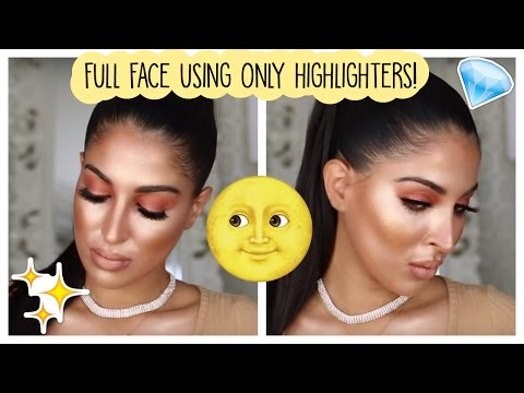 FULL FACE USING ONLY HIGHLIGHTERS CHALLENGE!