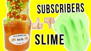 REVIEWING MY SUBSCRIBERS SLIME!!! 👍🏻👎🏻 💦
