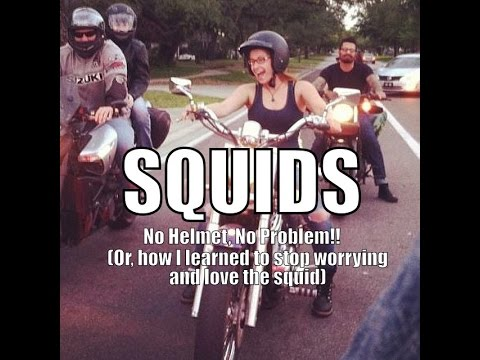 No Helmet? No Problem! (Or, how I learned to stop worrying and love the squid)