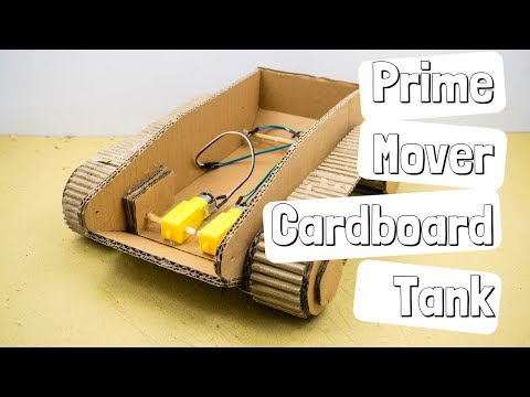 How to Make RC Cardboard Tank Part 1 of 3: A Prime Mover