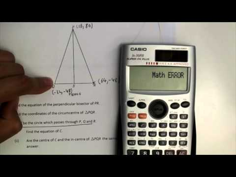 Finding the equation of circle from given three points