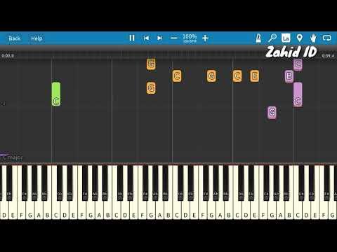 Lagu Anak PERGI BELAJAR Piano Tutorial (Belajar Musik)