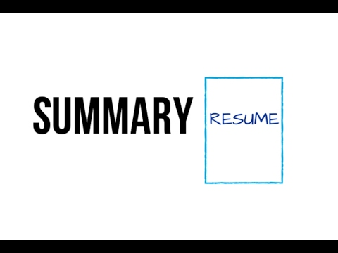 Your Resume Summary