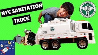 Download NYC Sanitation Truck Toy Garbage Trucks For Kids: DSNY Motorized Sanitation Truck By Daron Video