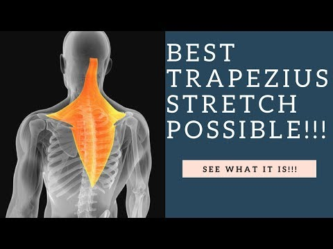 BEST Trapezius Muscle Stretch For Neck Pain Relief Using The PNF Technique
