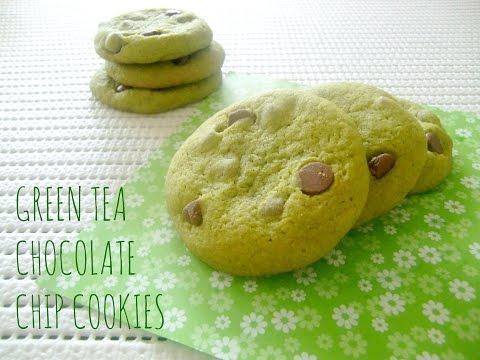How to Make Green Tea Chocolate Chip Cookies 녹차 초코 쿠키 ~ Snowy Winter Cafe~