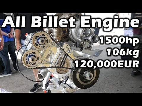 4.0L   4 Cylinders   1500hp   The *nearly* All Billet RP968 Engine