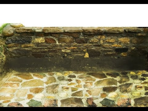 Building a retaining stone wall