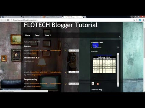 FLOTECH TUTORIAL: Create Label, Category on Website using (Blogger)