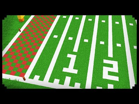 ✔ Minecraft: How to make a Football Field