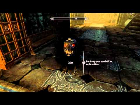 Skyrim: Dawnguard - How to get the Helldog Companion *spoilers*