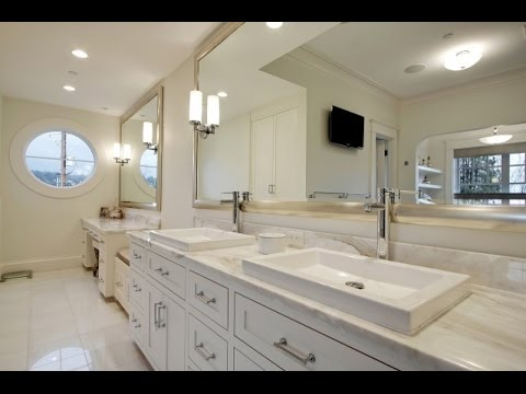 Bathroom. The Beauty of White Framed Bathroom Mirror