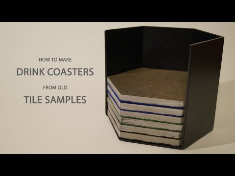 How To Make Drink Coasters From Tile Samples - Repurposing