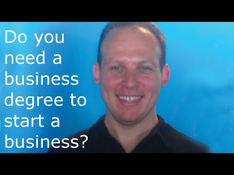 Do I need a college degree or MBA to start a business?
