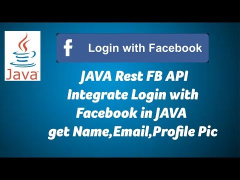 JAVA - Login with RestFB API in Facebook 02 - Get Name,Email,Picture