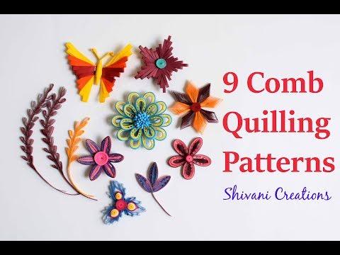 Introduction to Paper Quilling Part Five/ Comb Quilling Techniques/Fleur quilling