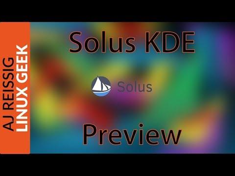 Solus kde Preview